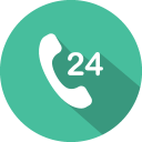 24 hours phone icon