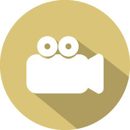 Movie Icon | 100 Flat Iconset | GraphicLoads