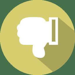 Thumbs down dislike icon