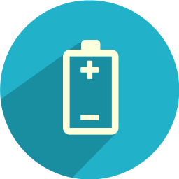 Battery polarity icon