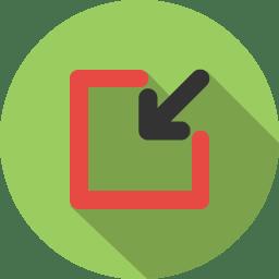 Arrow inside 2 icon