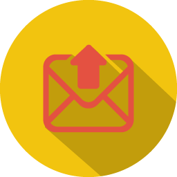 Arrow mail upload icon