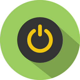 Button power icon