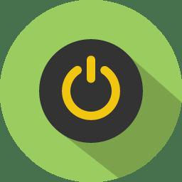 Button power icon