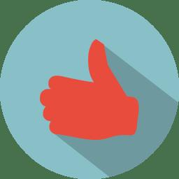 Hand thumbs up like icon