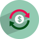 Dollar-rotation icon