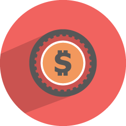 Dollar Coin Icon Flat Finance Iconset Graphicloads
