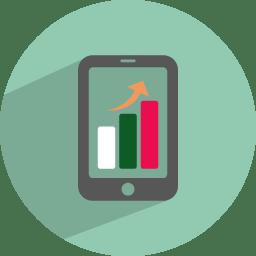 Mobile statistics icon