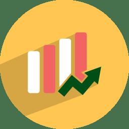 Statistics market icon