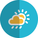 Cloudy-rain-folded icon