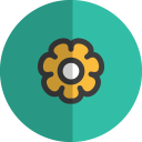 flower folded icon