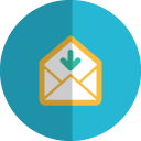 Mail-download-folded icon