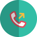 Outgoing call folded icon