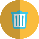 recyclebin folded icon