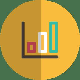 Analytics folded icon