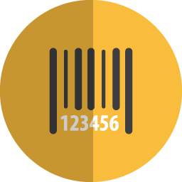 barcode folded icon