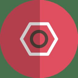 Bolt folded icon