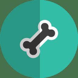 bone folded icon