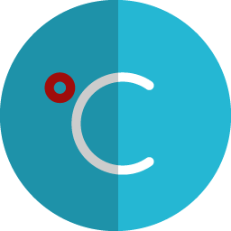 C temperature folded icon