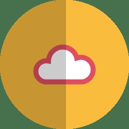 cloud folded icon