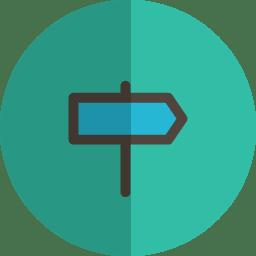 direction folded icon