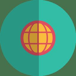 globe folded icon