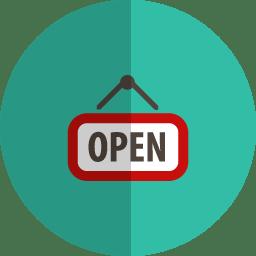 open folded icon