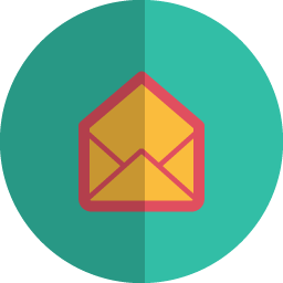 open mail folded icon