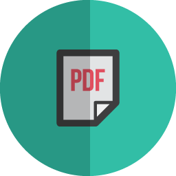 Pdf page folded icon