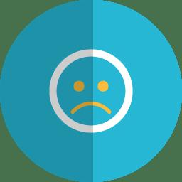 sad folded icon