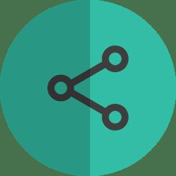 share folded icon