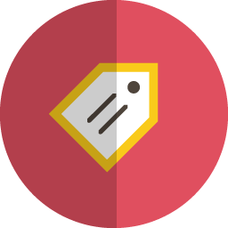 Tag folded icon