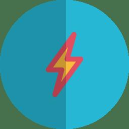 Thunder folded icon