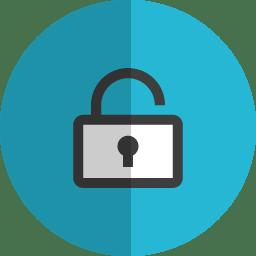Unlock folded icon