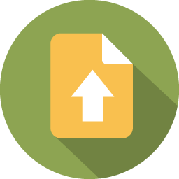 Document arrow upload icon