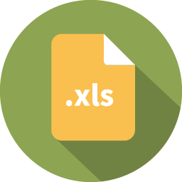 Document filetype excel icon