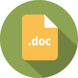 Document filetype word icon