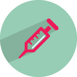 Syringe injection icon