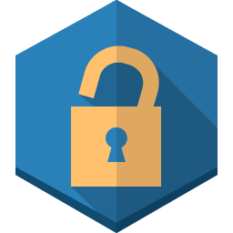 Lock unlock Icon | Long Shadow Polygon Iconset | GraphicLoads