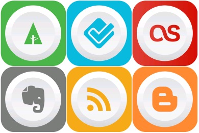 Rounded Flat Social Icons