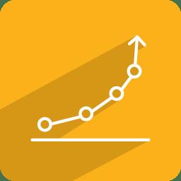 Growth statistics icon