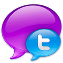 Small Twitter Logo in Blue icon