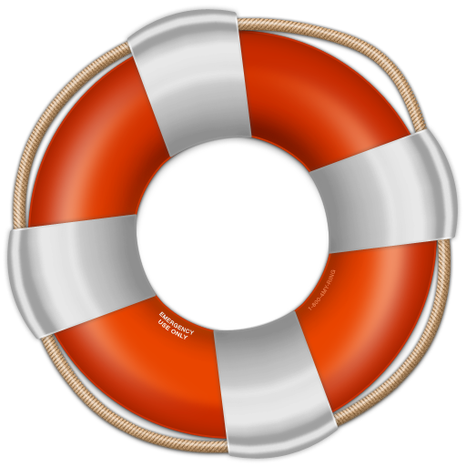 Red Life Saver icon