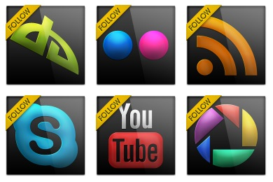 Black Gloss Social Icons