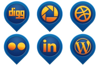 Media Pin Social Icons
