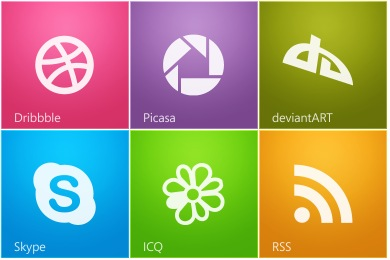 Metro Style Social Icons