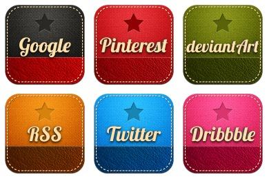 Retro Social Icons