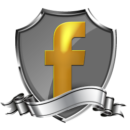 Facebook Icon | Shield Badge Social Iconset | GraphicsVibe