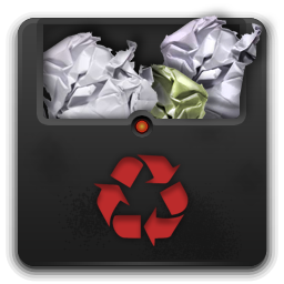 Trash full 2 icon