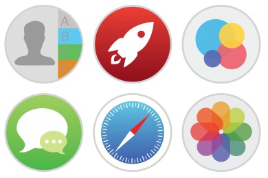 Mac Stock Apps Style 2 Icons